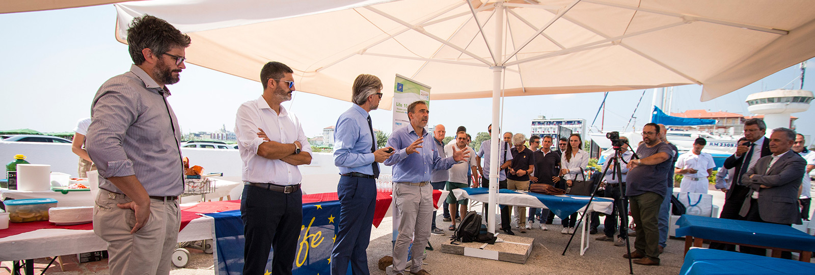 The plant for the management of the seabed of the Cervia harbour mouth has been officially inaugurated
